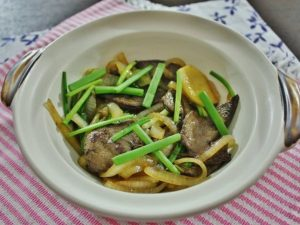 Pork Liver with Ginger and Onion